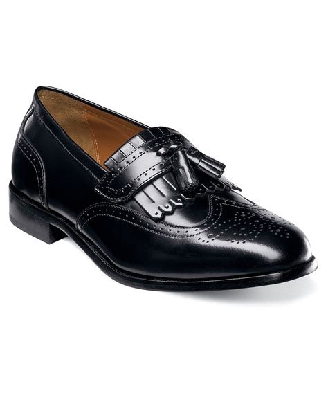 florsheim shoes for florsheim s brinson loafers shoes in black for lyst