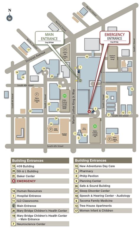 tacoma general emergency room maps parking multicare health system