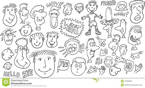 doodle how to use doodle set stock illustration image 44189492