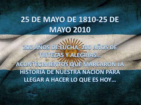 palabras alusivas 25 de mayo bicentenario powe point bicentenario argentino
