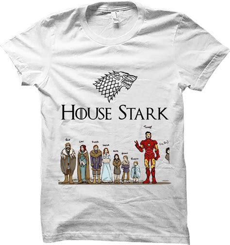 Tony Stark Tshirt house tony stark of thrones s white t shirt