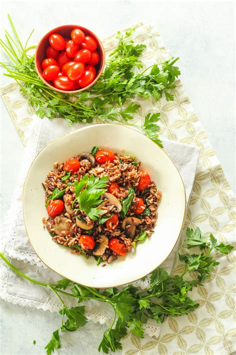 Rice Bowl Cherry Rice Bowl instant pot rice bowl with burst cherry tomatoes