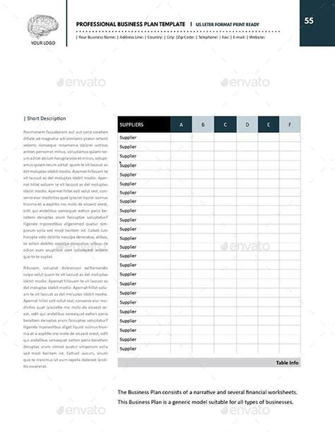 professional business plan template us letter by keboto