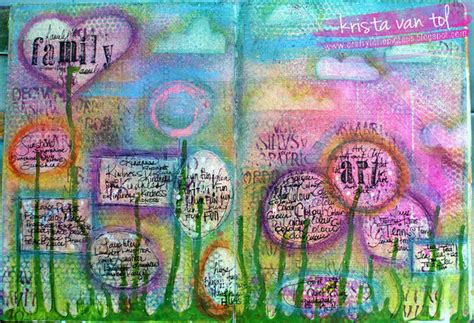 art journal layout ideas favourite things art journal page faber castell design