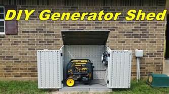 Diy Generator Shed by Diy Generator Shed