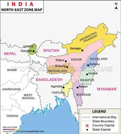 northeast map scaling the rise of bjp in northeast india on the founding