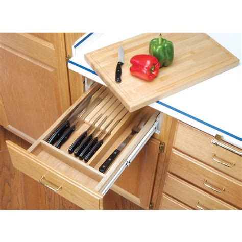 Knife Holder Drawer Insert by Cutting Boards Vegetable Treated Kitchen Knife Block