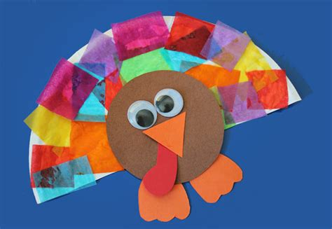 Tissue Paper Turkey Craft - arts and crafts for with paper