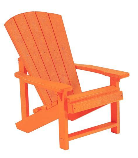 generations orange adirondack chair from cr plastic