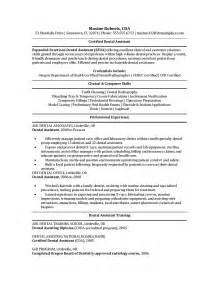 Sample Resume ? Dental Assistant