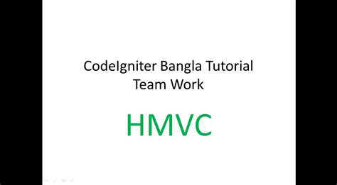 codeigniter tutorial in bangla hmvc bangla tutorial in codeigniter youtube