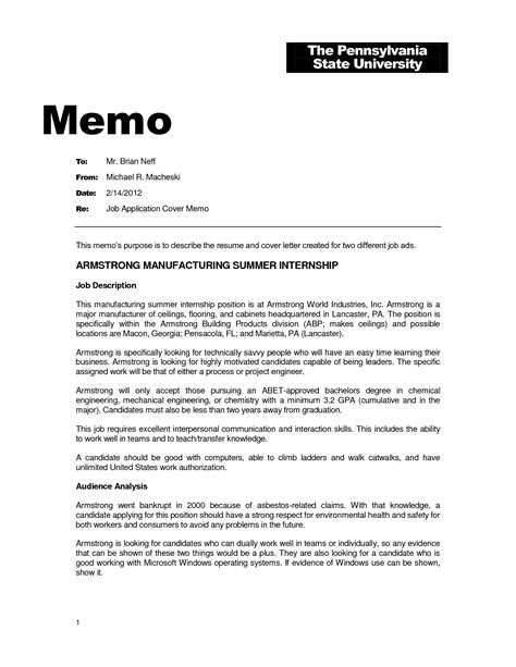 11 Best Images of Memo Cover Letter Template   Sample Memo