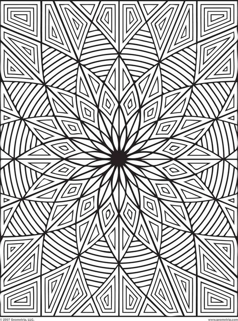 crazy geometric coloring pages difficult geometric design coloring pages rectangles