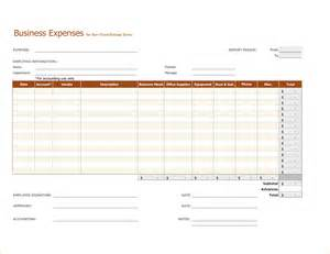 Business Plan Expenses Template 5 Expenses Template Outline Templates