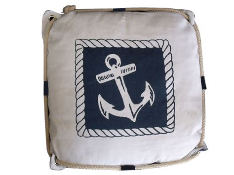 Nautical Pillows Wholesale by Buy Navy Blue And White Anchor Decorative Nautical Pillow