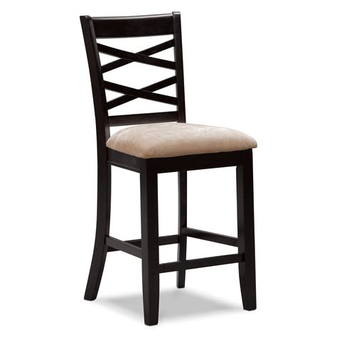 average height of bar stools davis counter height stool espresso furniture com