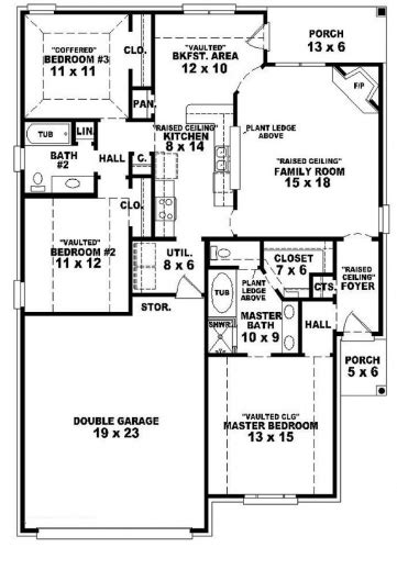 best 3 bedroom house plans home designs celebration homes