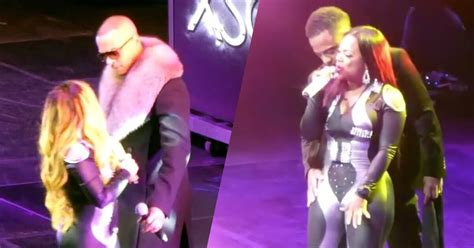 Bedroom Kandi Boutique Party xscape brings their husbands on stage to dance during new