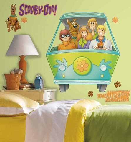 scooby doo wallpaper bedroom scooby doo mystery machine giant peel stick wall decal