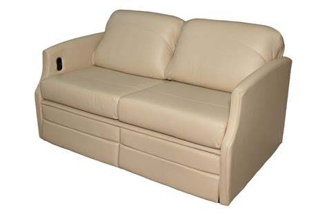 rv loveseat flexsteel 4615 sleeper sofa w dual footrests glastop inc