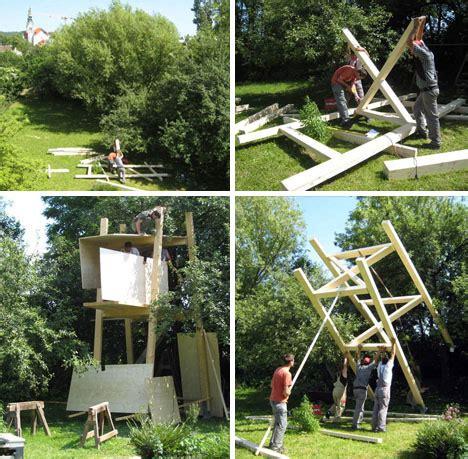 free tree house building plans modern magic building a modern magic building a treehouse for kids plans pics