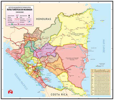 nicaragua on a map large detailed administrative map of nicaragua nicaragua