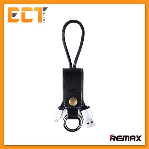 Original Remax Ring Keychain Micro Usb Cable For Smartp Diskon remax rc 034m leather keychain western design micro usb cable for samsung etc black