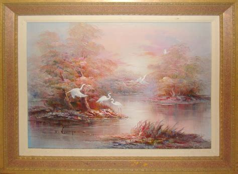 Painting The by Mid Century Modern Painting Of The Florida Everglades