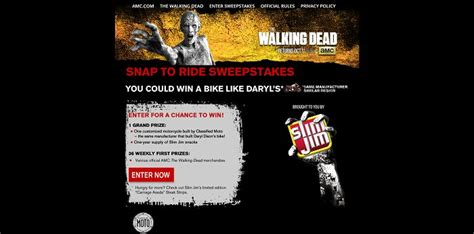 Amc Sweepstakes - amc com snaptoride amc s the walking dead snap to ride sweepstakes