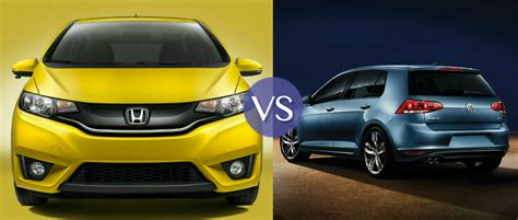Volkswagen Vs Honda by Honda Fit Vs Vw Golf