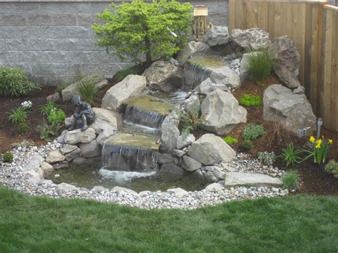 waterfall in backyard landscape design advice creating natural waterfall in your garden