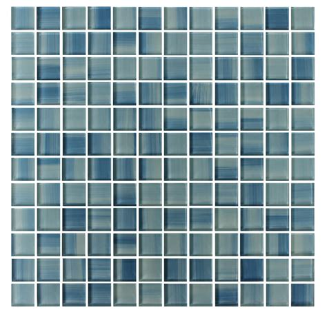 Blue Skies Arabesque blue skies painted 1x1 glass mosaic tiles rocky