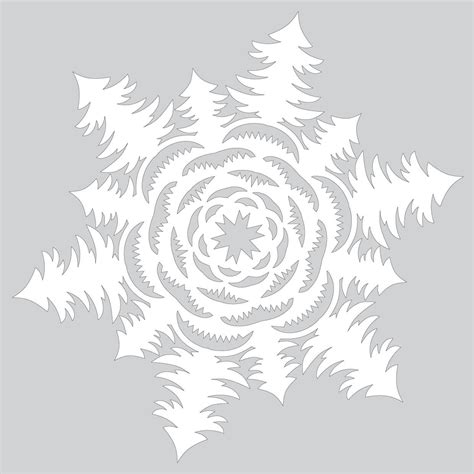 How To Make A Bush Out Of Paper - how to make paper snowflake with tree forest