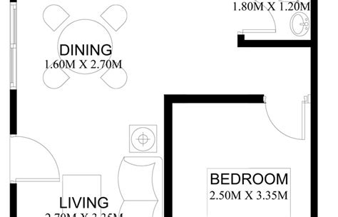 Simple 2 Bedroom House Plans by Pinoy House Plans Series Php 2014001