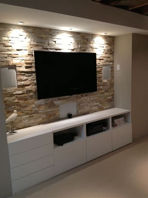basement stone entertainment center  ikea cupboards wwwshannacreatio pinteres