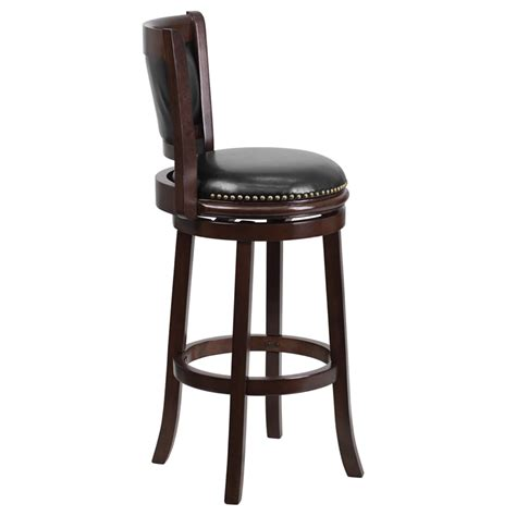 furniture black seat unique bar stools with wood legs for flash furniture ta 61029 ca gg 29 quot cappuccino wood bar
