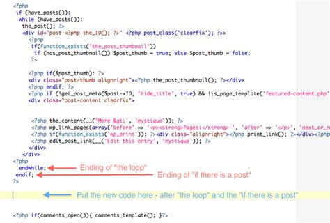 post template code how to add posts to pages in tutorial