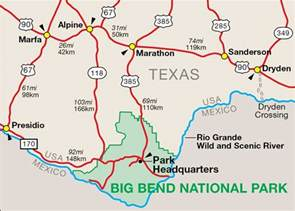 map of big bend national park te