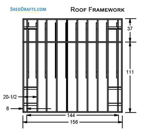 saltbox storage shed plans blueprints  crafting