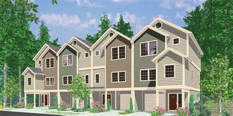 family house plans 4 plex house plans multiplexes quadplex plans