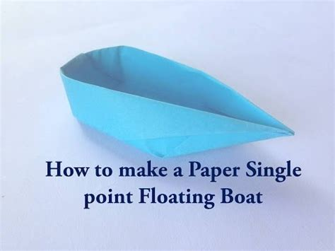 How To Make Paper Float - cool origami paper floating boat