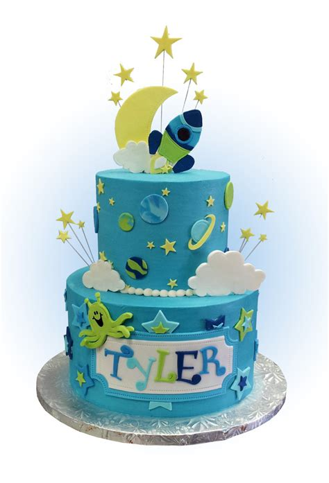 cake decorations theme childrens space themed cake toppers and decorations for