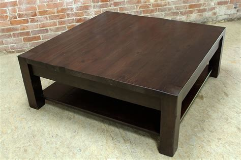 how to make a square coffee table square parsons coffee table in espresso ecustomfinishes