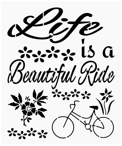 inspirational quote stencils printable primitive stencil for signs quote life is a beautiful