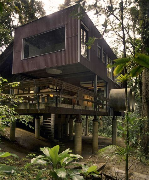 tropical house in the jungle tropical