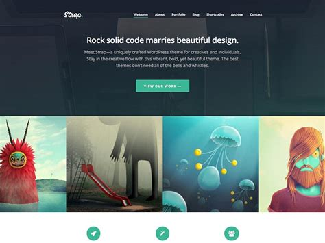 website templates for visual artists 21 best portfolio wordpress themes for artists