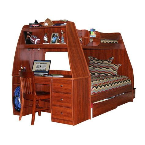 Wooden Bunk Bed With Desk Wooden Bunk Bed With Desk Underneath Decor References