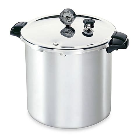 pressure cooker bed bath and beyond presto aluminum 23 quart pressure canner and cooker bed