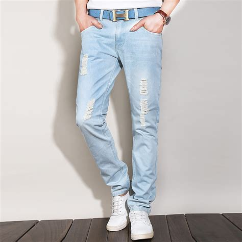 light blue pants mens jean homme chinese goods catalog chinaprices net