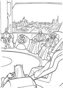 phantom menace coloring pages jedi high council meeting on coruscant coloring page